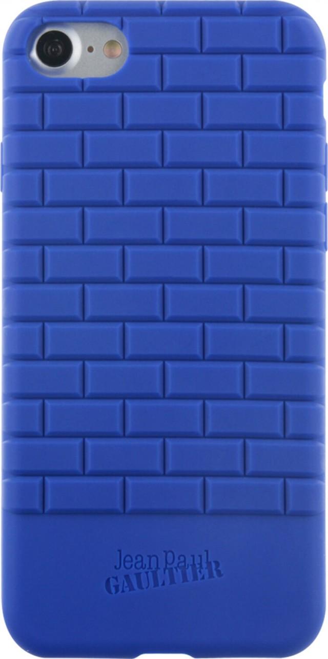 Coque semi-rigide briques Jean Paul Gauthier (Bleue) – Packshot