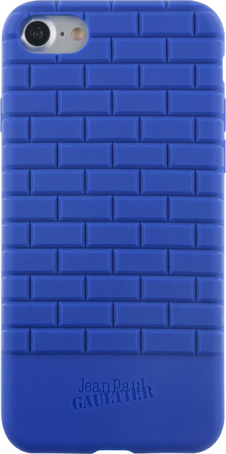 Coque semi-rigide briques Jean Paul Gauthier (Bleue) - Packshot