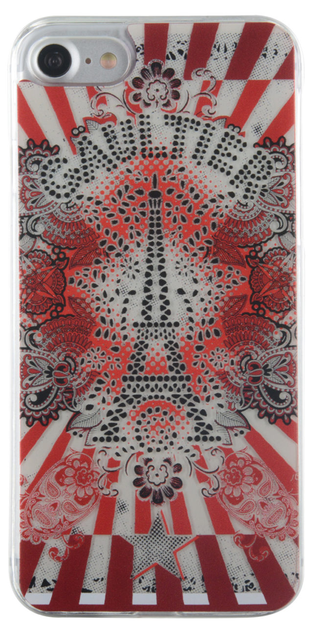 Coque rigide Tour Eiffel Jean Paul Gaultier (rouge) - Packshot