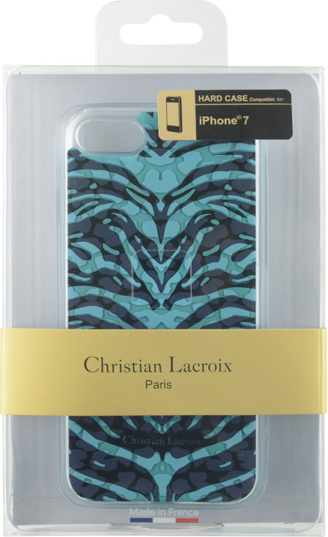 Coque Christian Lacroix «Pantigre» (Turquoise) – Visuel