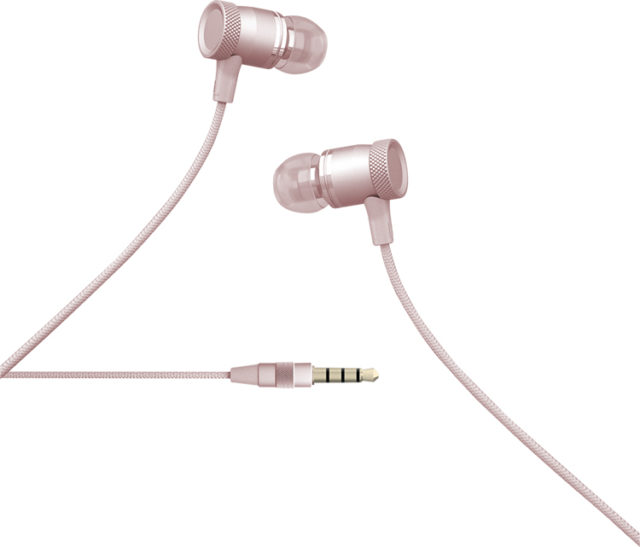 Kit piéton intra-auriculaire Colorblock (rose doré) - Packshot