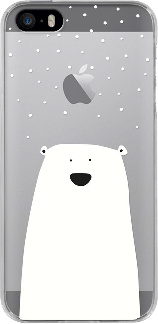 Coque semi-rigide transparente (petit ours blanc) - Packshot