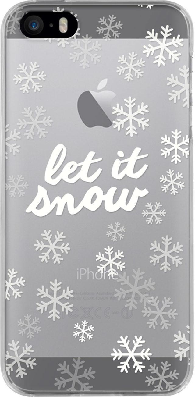 Coque semi-rigide transparente (flocon de neige) - Packshot
