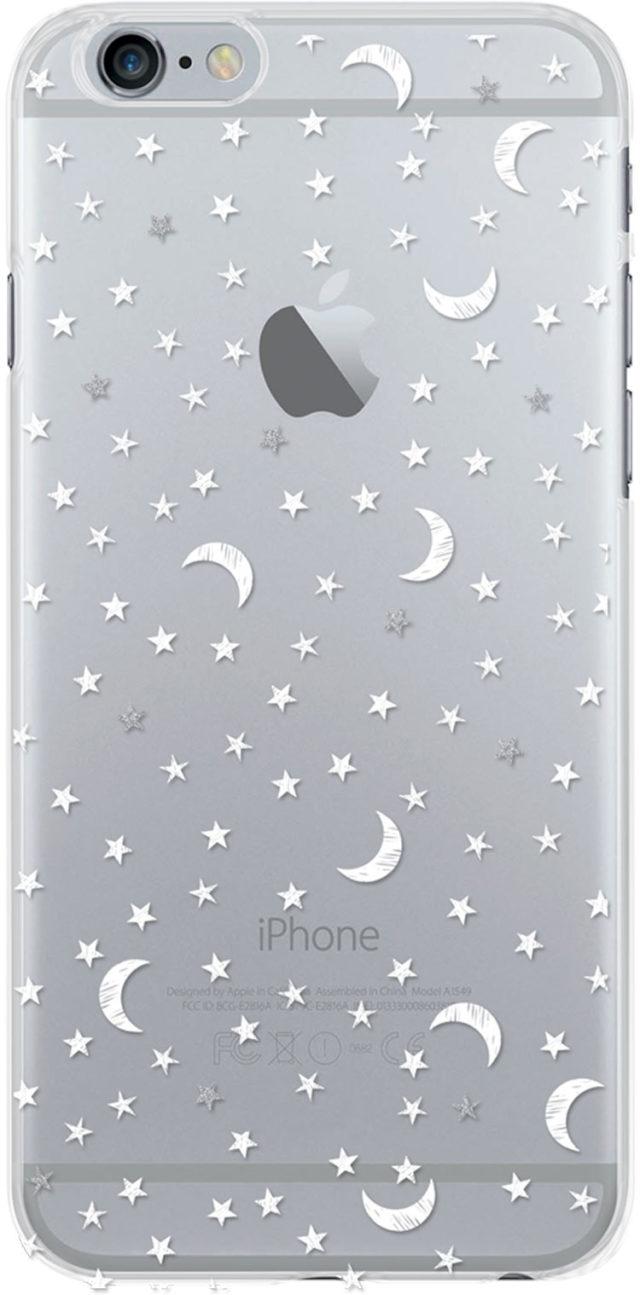 Coque semi-rigide transparente (étoiles) - Packshot