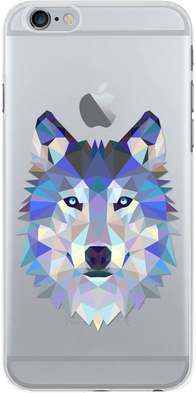 Coque semi-rigide transparente (loup) - Packshot