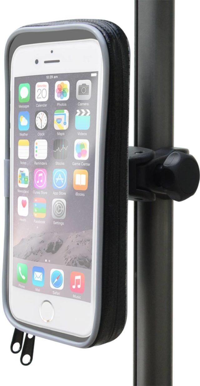 Support Vélo Bigben noir rotatif 360° pour smartphones de 3.5 à 5.5 pouces - Packshot