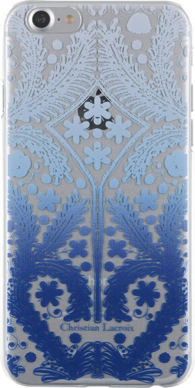 Coque rigide Christian Lacroix Paseo transparente (bleue) - Packshot