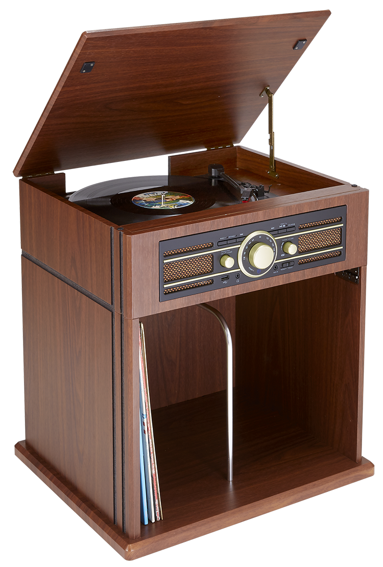 tourne disques 2 vitesses 33 et 45 tours avec rangement vinyles int gr td104 bigben bigben. Black Bedroom Furniture Sets. Home Design Ideas