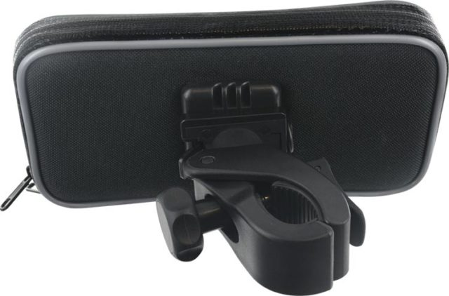 Support Vélo Bigben noir rotatif 360° pour smartphones de 3.5 à 5.5 pouces – Visuel#1