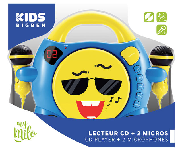 Lecteur CD avec 2 micros «My Milo» – Visuel#2tutu