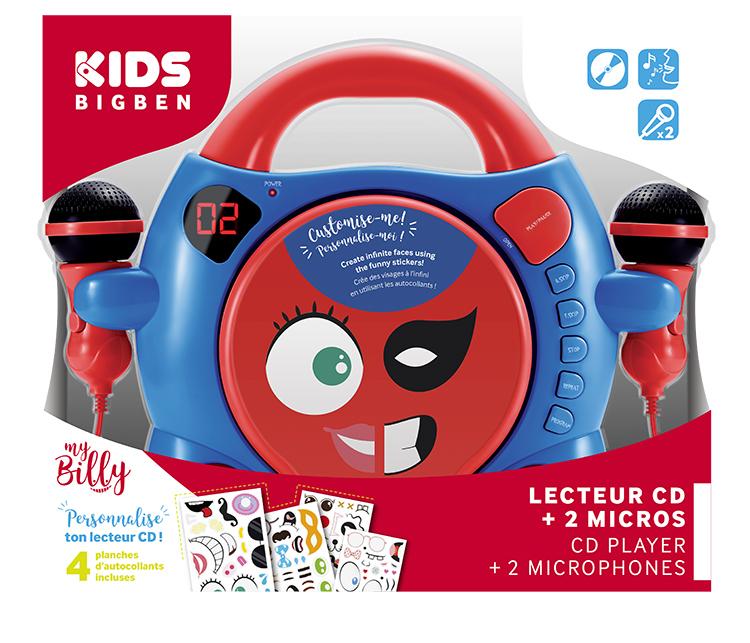 Lecteur CD à personnaliser avec 2 micros «My Billy» - Visuel#2tutu#3