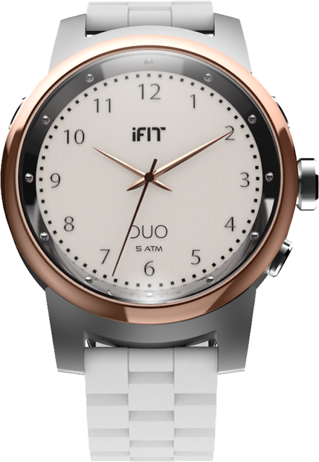 Montre connectée IFIT Duo (blanche) – Packshot
