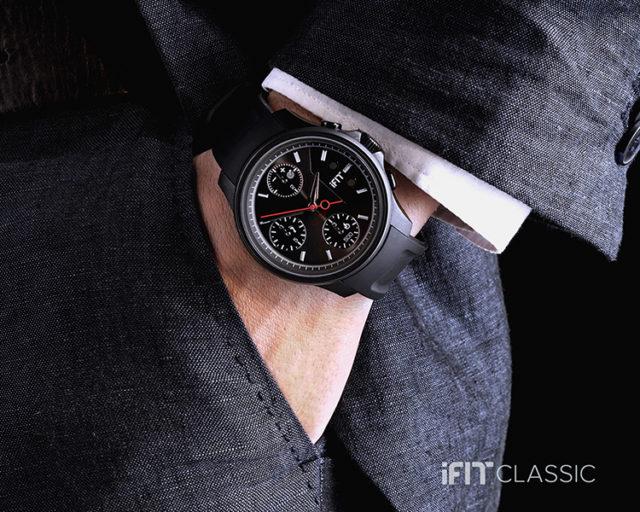 Montre IFIT Classic (noir) – Visuel