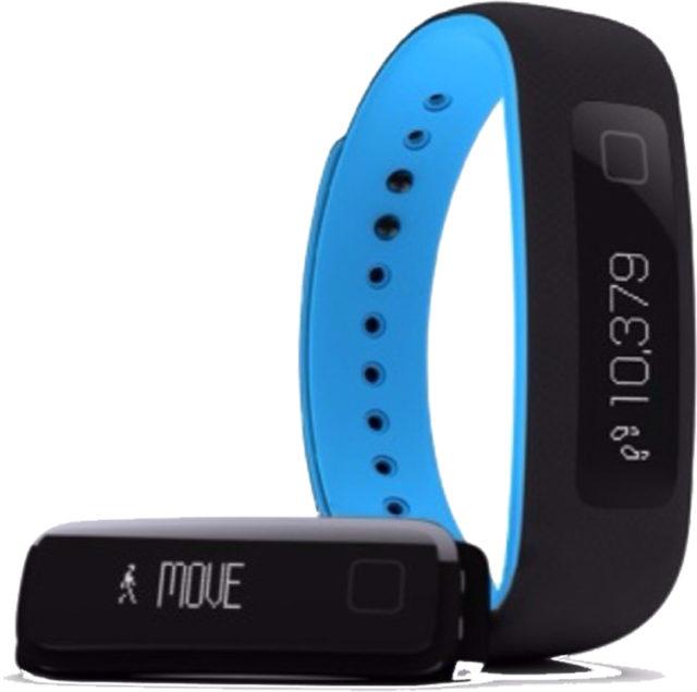 Bracelet connecté IFIT Vue (noir et bleu) – Visuel