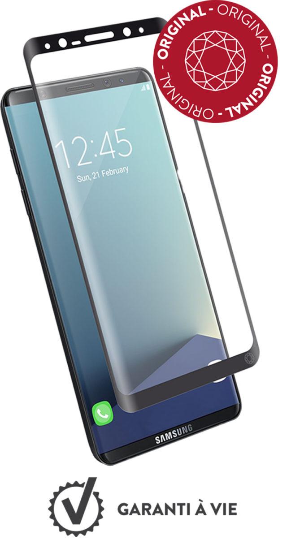 Protège-écran en verre trempé Force Glass (contour noir) - Packshot