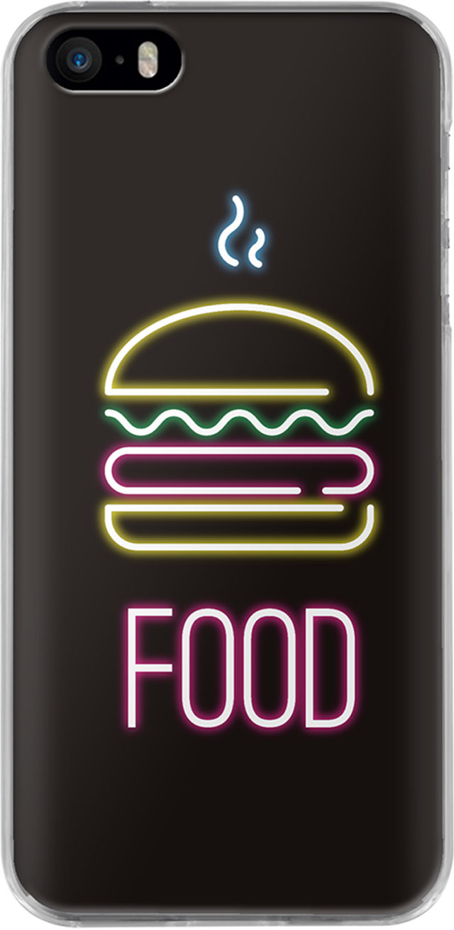 Coque rigide (Noir holographique food) - Packshot