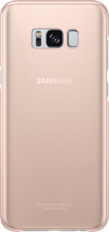 Coque semi-rigide Samsung (rose transparent) - Packshot
