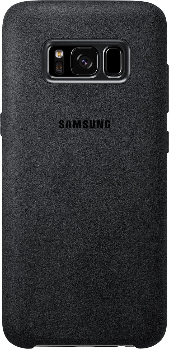 Coque rigide Samsung (Alcantara gris) - Packshot