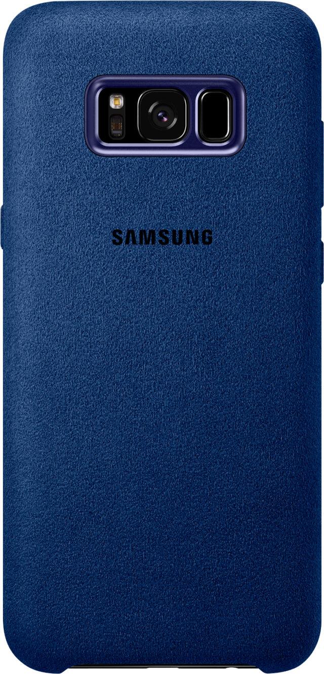 Coque rigide Samsung (Alcantara bleu) - Packshot