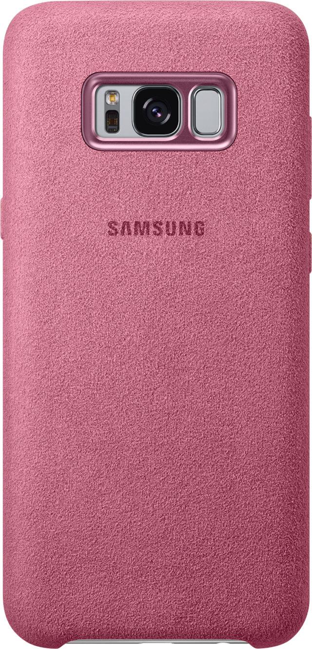 Coque rigide Samsung (Alcantara rose) - Packshot