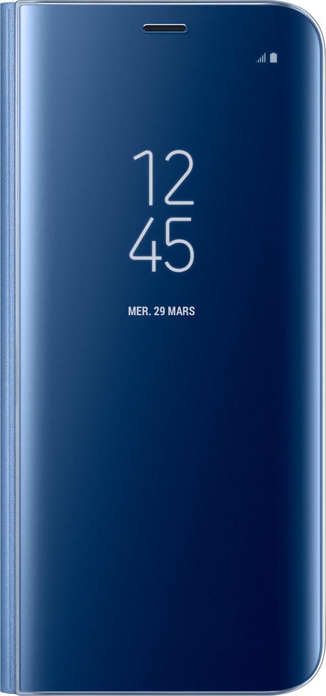 Étui à rabat Clear View Cover Samsung (bleu) - Packshot