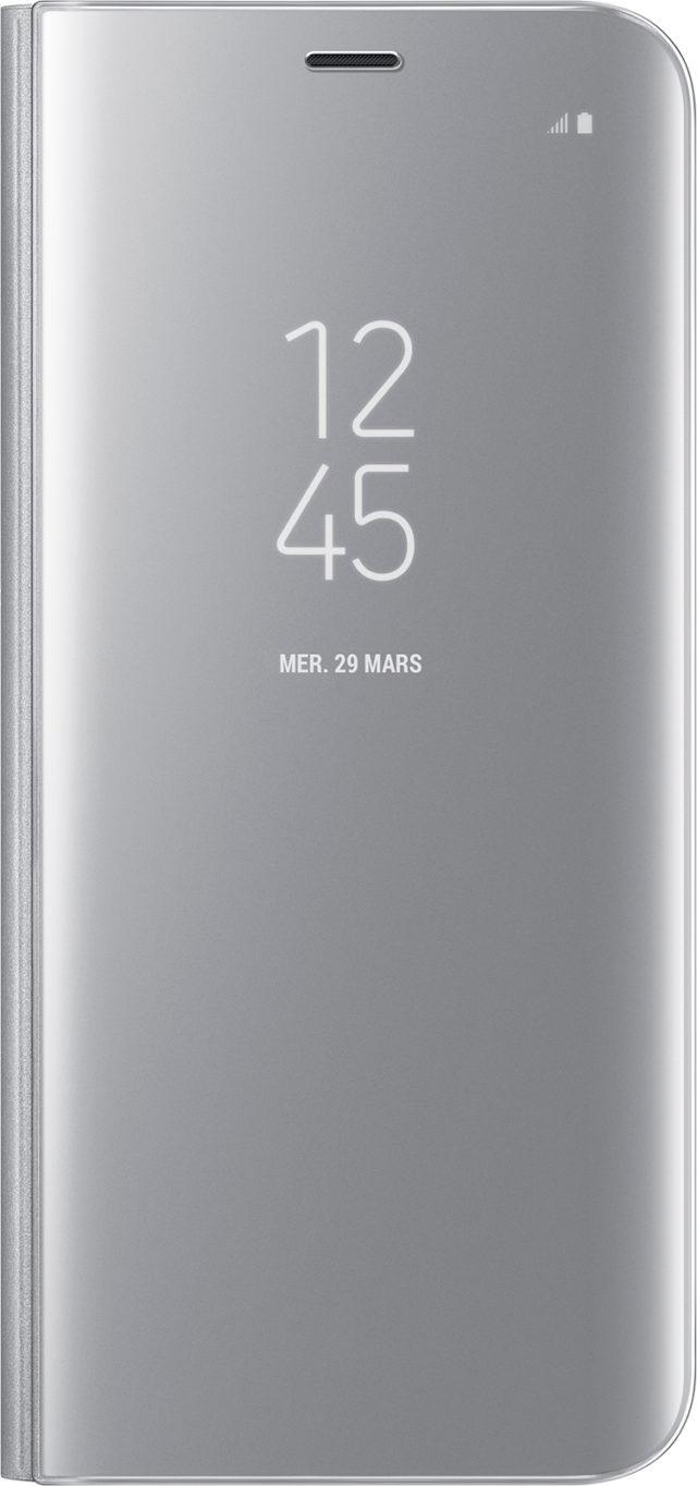 Étui à rabat Clear View Cover Samsung (argent) - Packshot