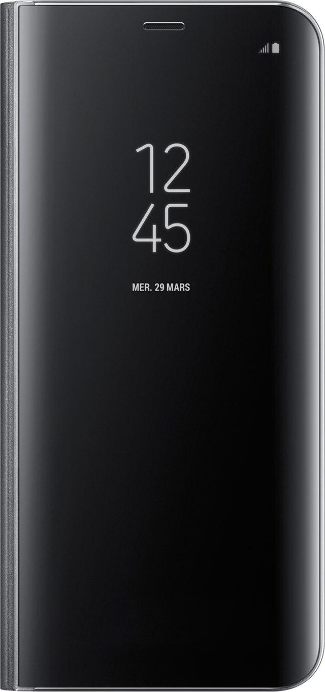 Étui à rabat Clear View Cover Samsung (noir) - Packshot