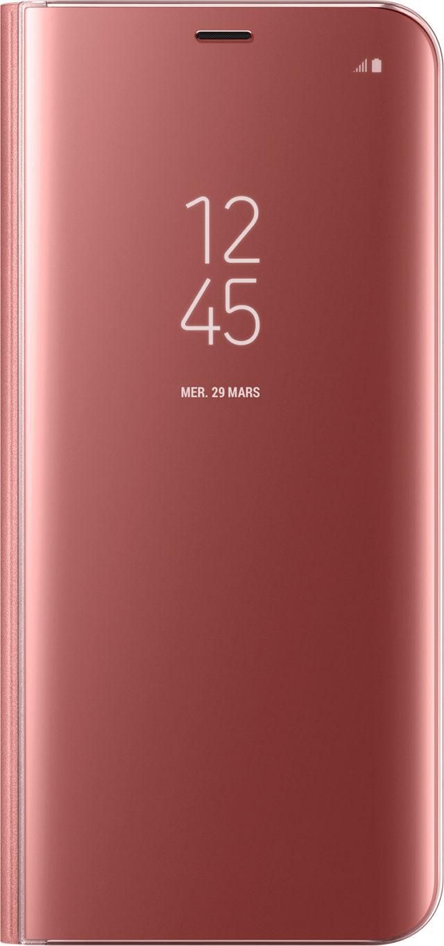 Étui à rabat Clear View Cover Samsung (rose) - Packshot