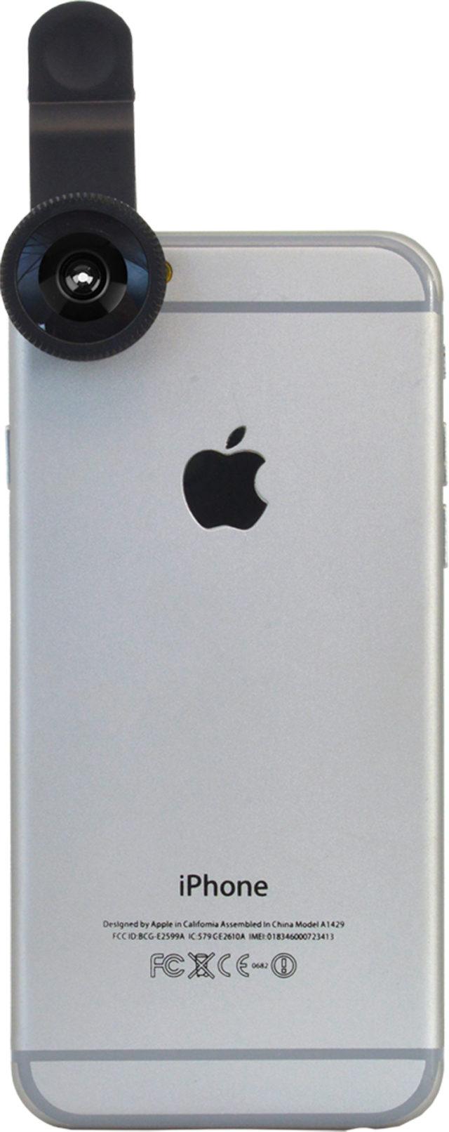 Clip lentille Fisheye pour smartphone (noir) - Packshot