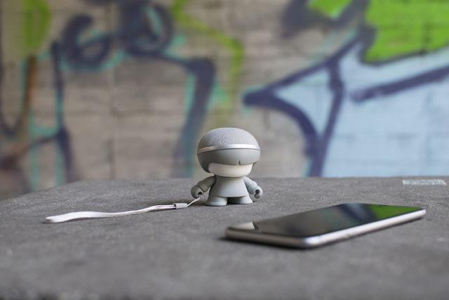 Mini enceinte ultra compacte Xboy Xoopar (argenté) – Visuel#1