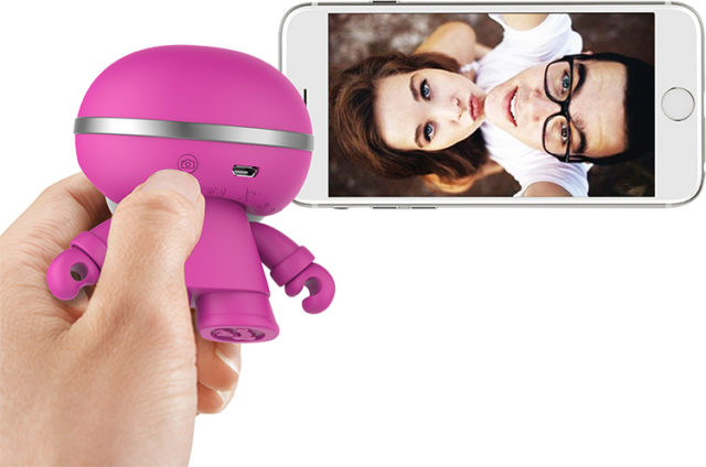 Mini enceinte ultra compacte Xboy Xoopar (rose) – Visuel