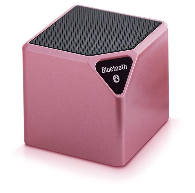 Enceinte sans fil portable (rose métallisé) – Packshot