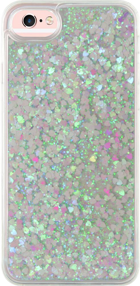Coque rigide liquide (paillettes blanches) - Packshot