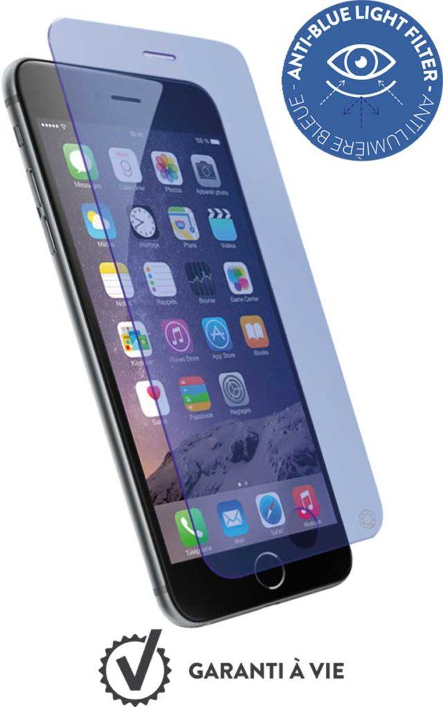 Protège-écran en verre trempé Force Glass avec kit de pose (anti-bleu) - Packshot