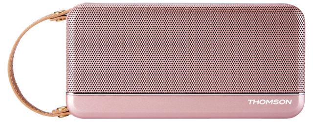 Enceinte sans fil portable Thomson (rose métalisé) – Packshot