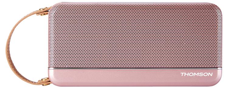 Enceinte sans fil portable Thomson (rose métalisé) - Packshot
