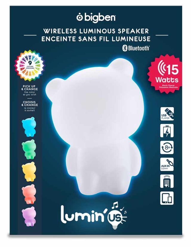Enceinte sans fil lumineuse Lumin'us (ours) – Visuel#2tutu