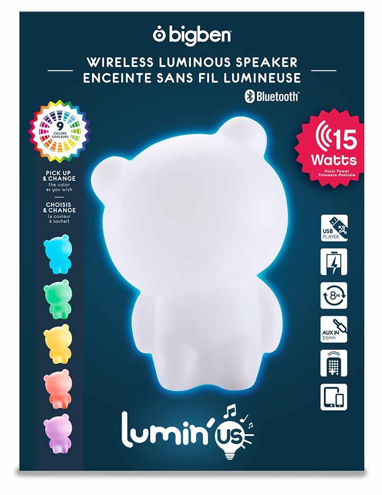 Enceinte sans fil lumineuse Lumin'us (ours) - Visuel#2tutu