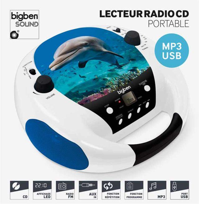 Lecteur CD portable Dauphin – Visuel#1