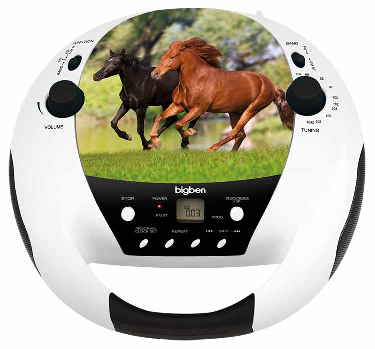 lecteur cd usb portable cheval cd52horse5mp3usb bigben. Black Bedroom Furniture Sets. Home Design Ideas