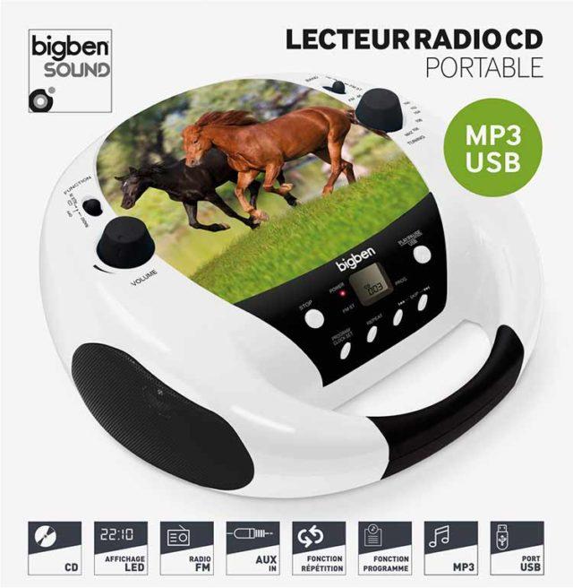Lecteur CD portable Cheval – Visuel#1