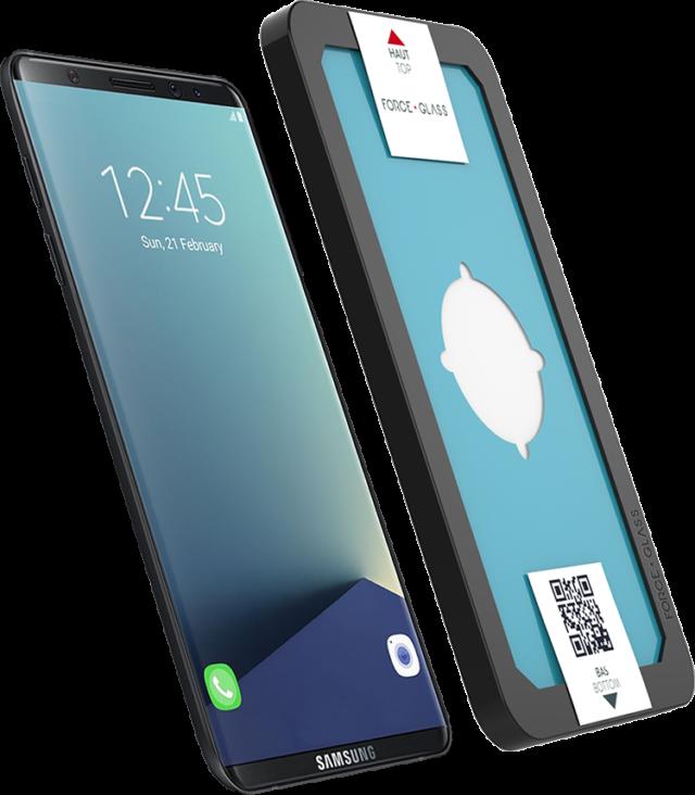 Protège-écran en verre trempé Force Glass avec kit de pose – Visuel