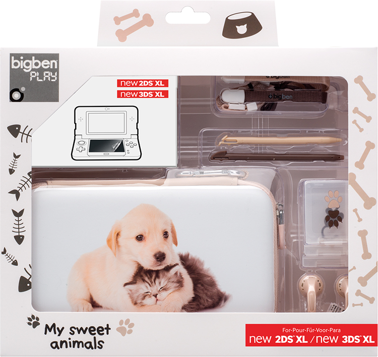 Pack essential dition limit e baby animals for Housse 2ds bigben