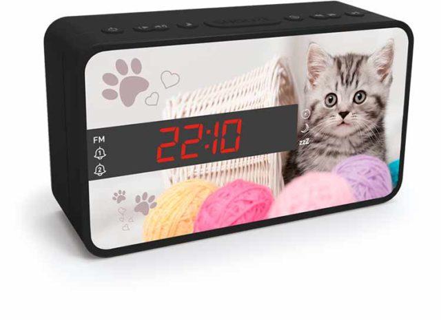 Radio réveil double alarme (animaux) – Visuel#1
