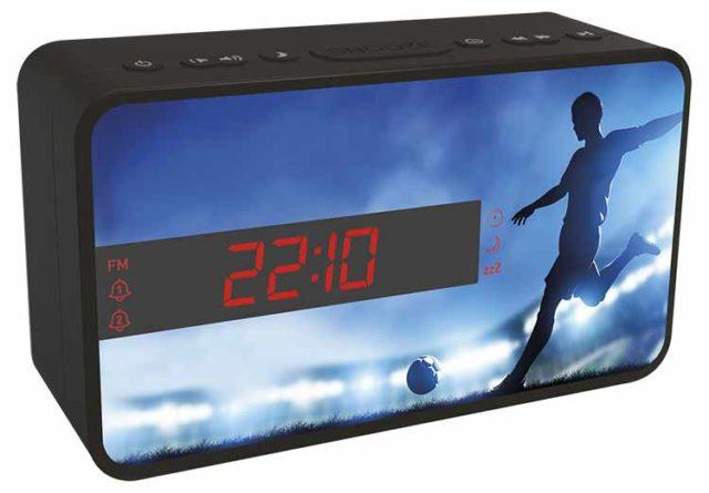 Radio réveil double alarme (foot) – Visuel#2tutu#4tutu