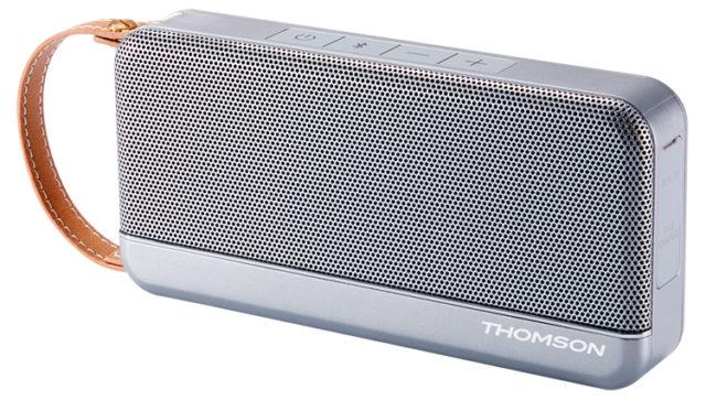 Enceinte sans fil portable Thomson (gris métalisé) – Visuel