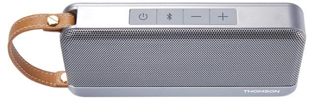 Enceinte sans fil portable Thomson (gris métalisé) – Visuel#1
