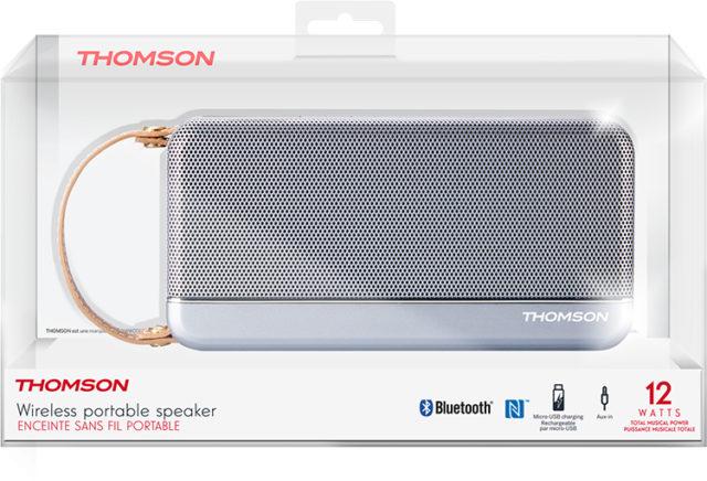 Enceinte sans fil portable Thomson (gris métalisé) – Visuel#2tutu