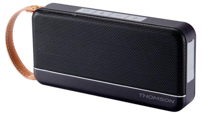 Enceinte sans fil portable Thomson (noir mat) – Visuel