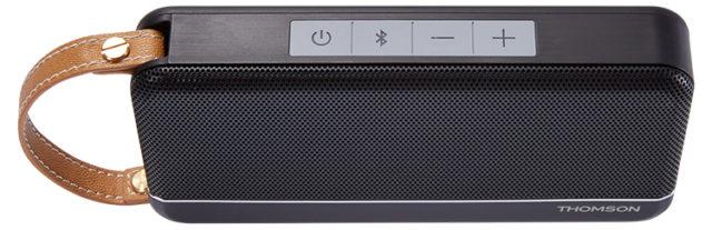 Enceinte sans fil portable Thomson (noir mat) – Visuel#1